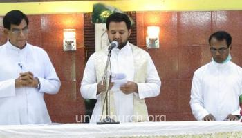 Fr Jason Lobo takes charge as New Parish Priest of Nidpalli Church